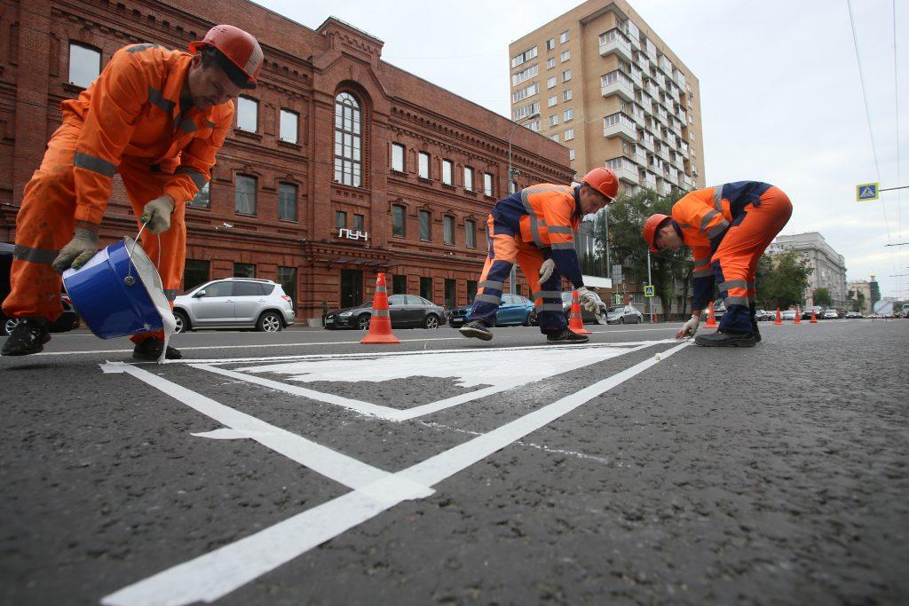 Временную разметку на дорогах Москвы оставят до конца ЧМ-2018