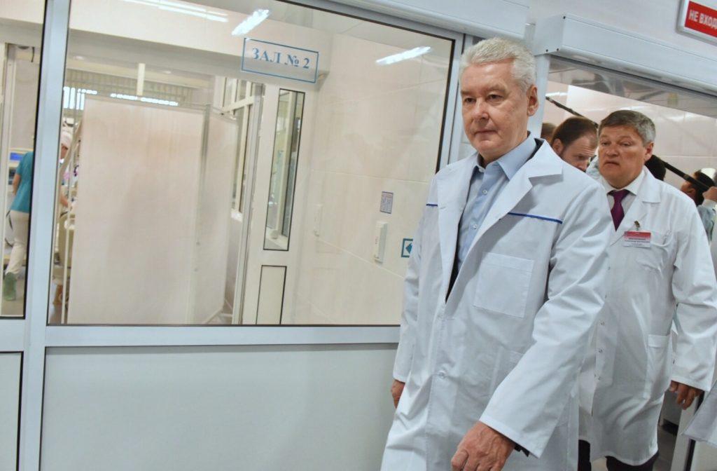 Сергей Собянин посетил Первый Московский хоспис. Фото: Владимир Новиков