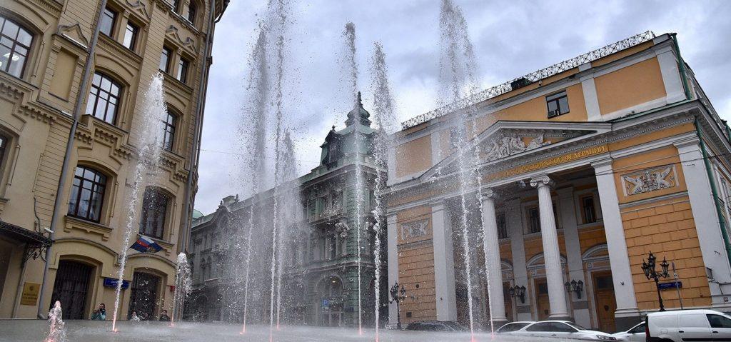 Пять новых фонтанов запустили в Москве