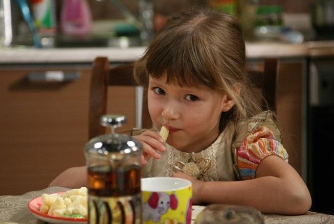 Мария Ильюхина в детстве. Кадр из сериала «Воронины»