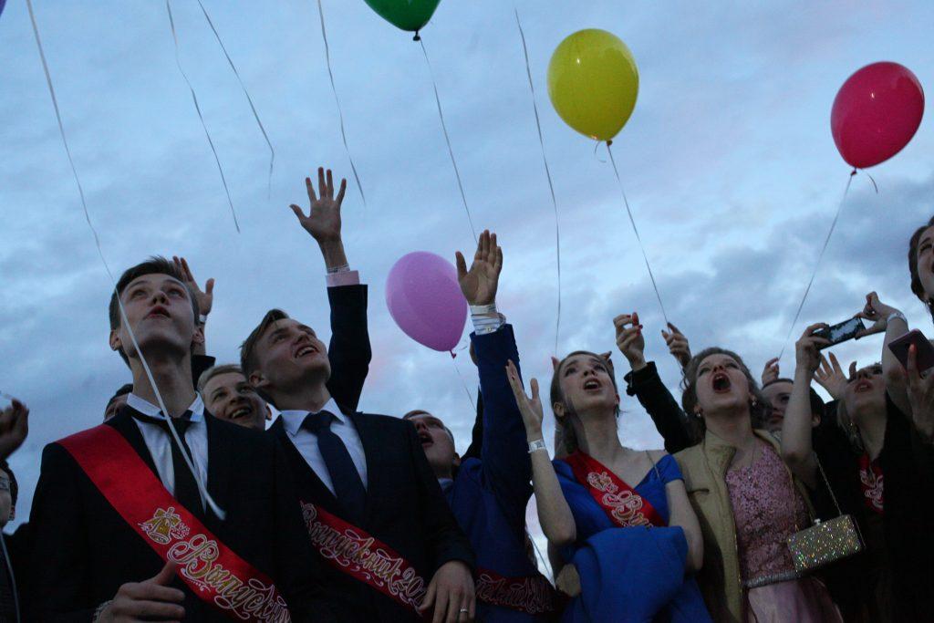 Территорию Парка Горького закрыли для посетителей в связи с выпускным вечером