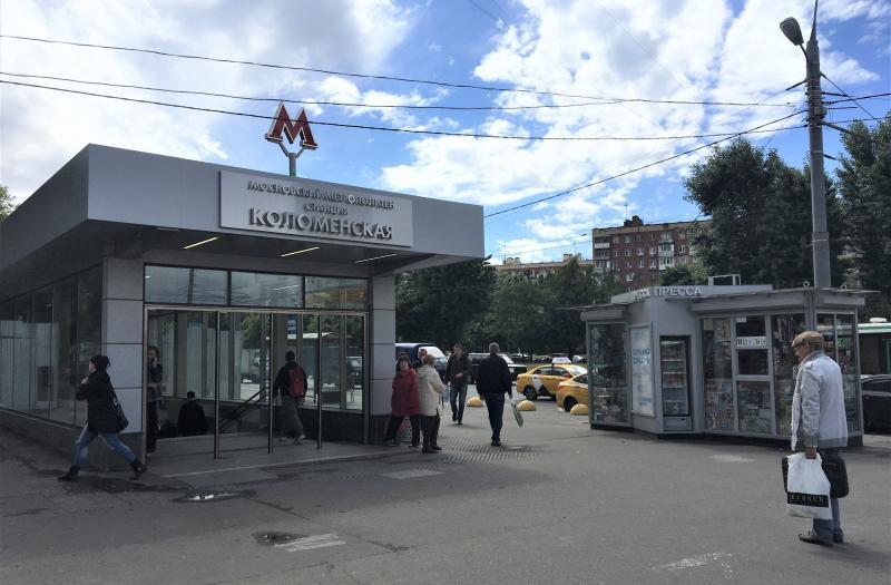 Ремонт вестибюля станции метро «Коломенское» завершат в ближайший месяц. Фото: Анна Быкова