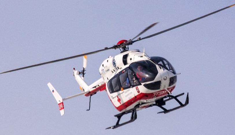 Санитарные вертолеты заступили на круглосуточное дежурство