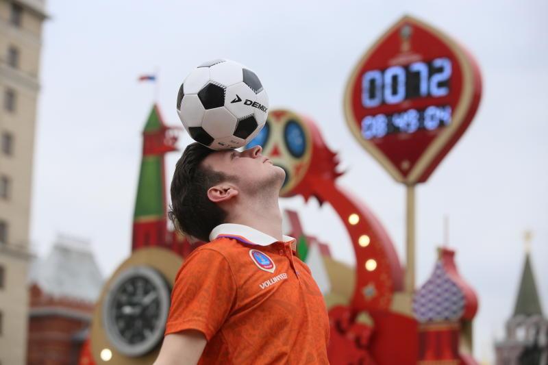 Москва готовится к Чемпионату мира по футболу. Фото: Антон Гердо, «Вечерняя Москва»