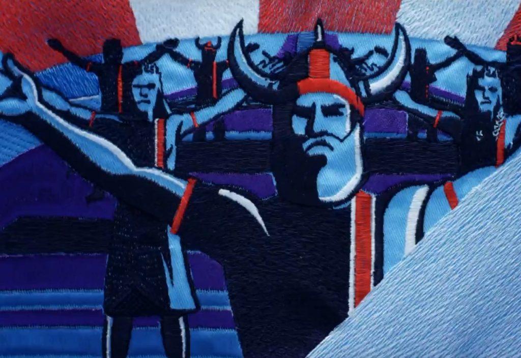 3 июля 2018 года. Видео из вышитых гобеленов, посвященных успехам всех чемпионатов мира по футболу, вошло в экспозицию Триеннале современного гобелена в Царицыне