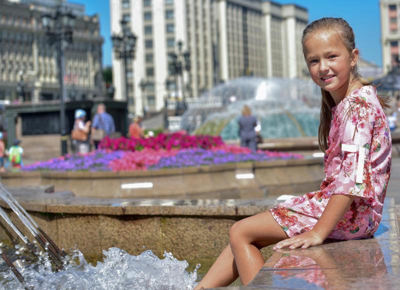 Жару выше 30 градусов ожидают в столице. Фото: Пелагия Замятина, «Вечерняя Москва»