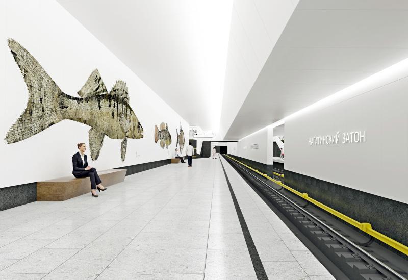 Макет станции метро «Нагатинский Затон». Фото: официальный сайт мэра Москвы
