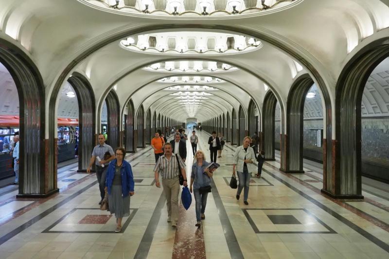 Станция метро «Маяковская». Фото: Антон Гердо, «Вечерняя Москва»
