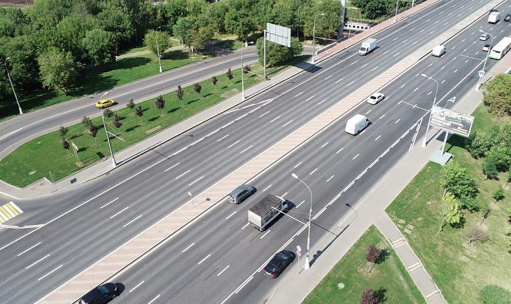 Обновили разметку на Каширском шоссе