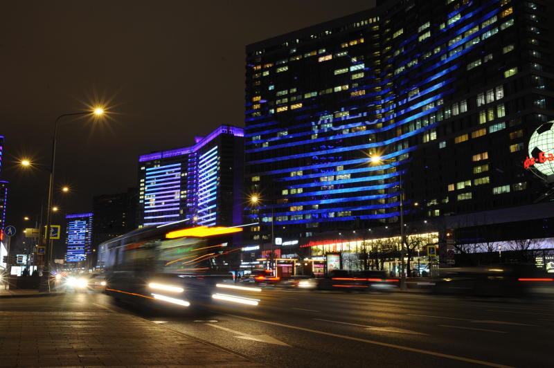 Тематическая подсветка украсит Новый Арбат. Фото: Александр Кожохин