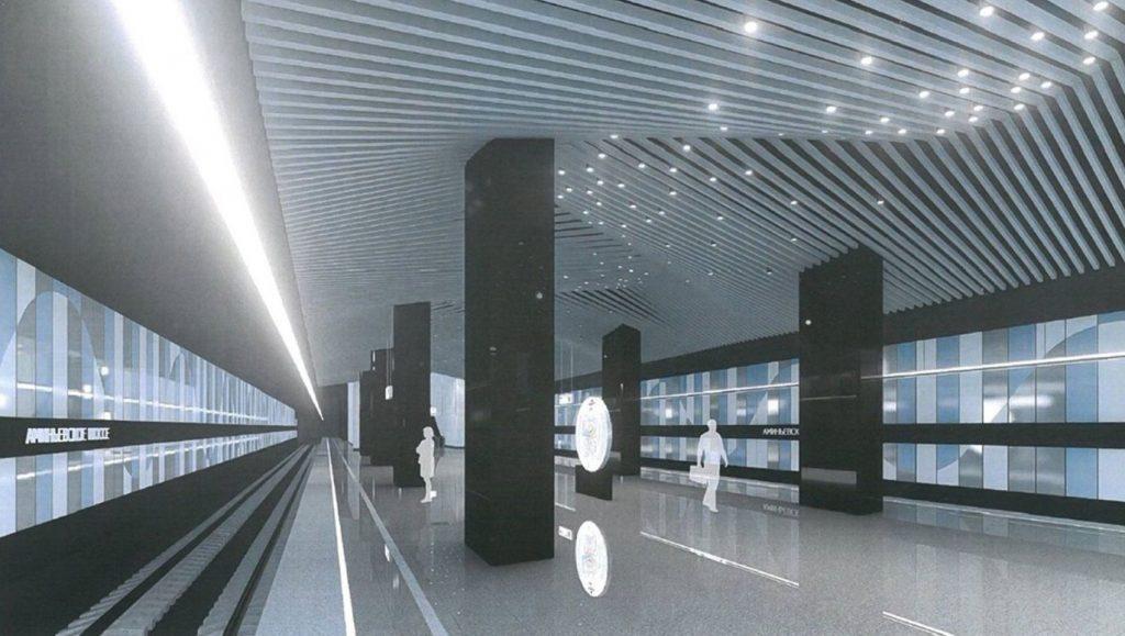 Станцию Большой кольцевой линии украсит 3D-потолок
