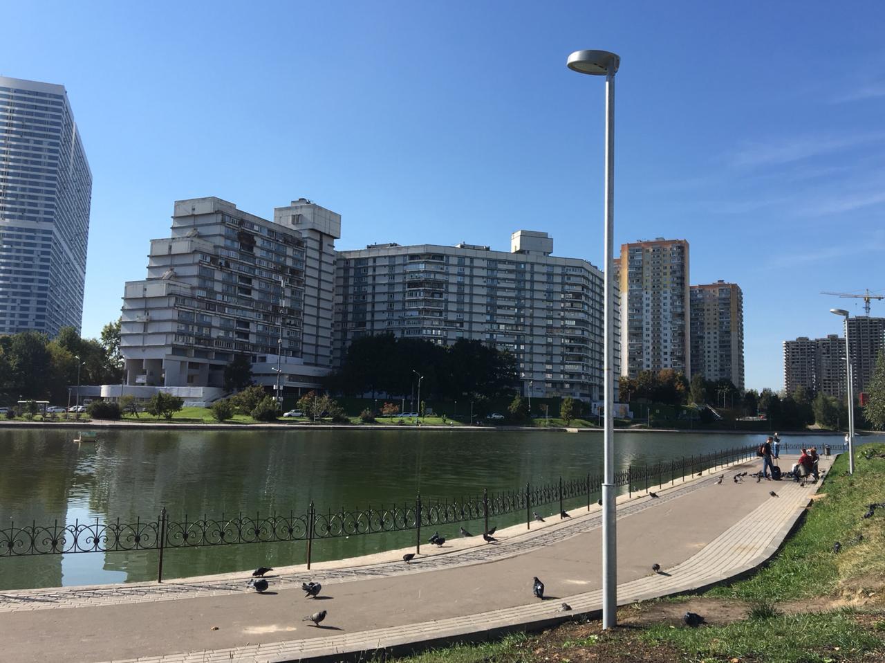 Почти 40 фонарей установили вокруг Чертановского пруда по просьбе жителей