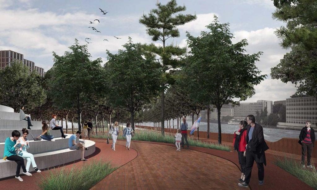 Новый парк «На набережной» обустроят у ЗИЛа