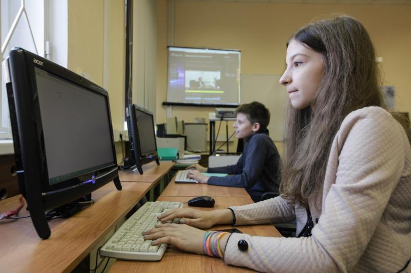 В «Московской электронной школе» начали тестировать новые функции. Фото: Дмитрий Рухлецкий