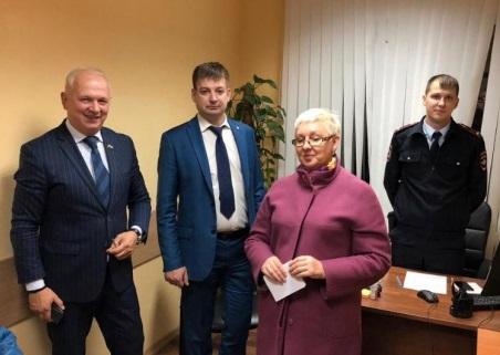 Члены Общественного совета при УВД по ЮАО ГУ МВД России по г. Москве приняли участие в едином дне приема населения