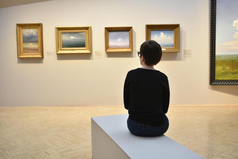 Картинами современного художника оформили актовый зал техникума имени Леонида Красина