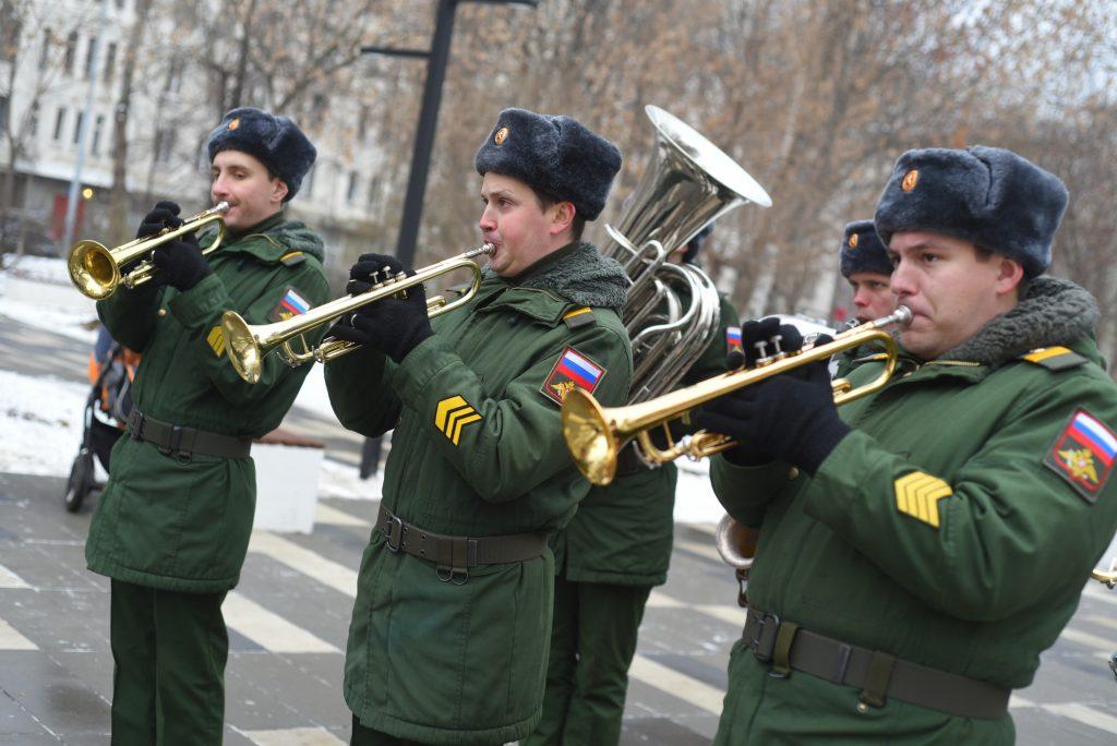 Участников Битвы под Москвой вспомнили в Южном округе. Фото: Александр Кожохин