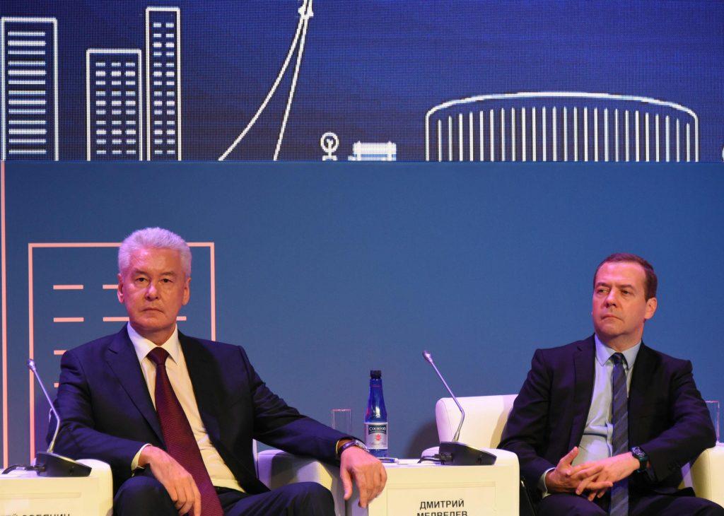 Сергей Собянин заявил Дмитрию Медведеву о росте зарплат в Москве
