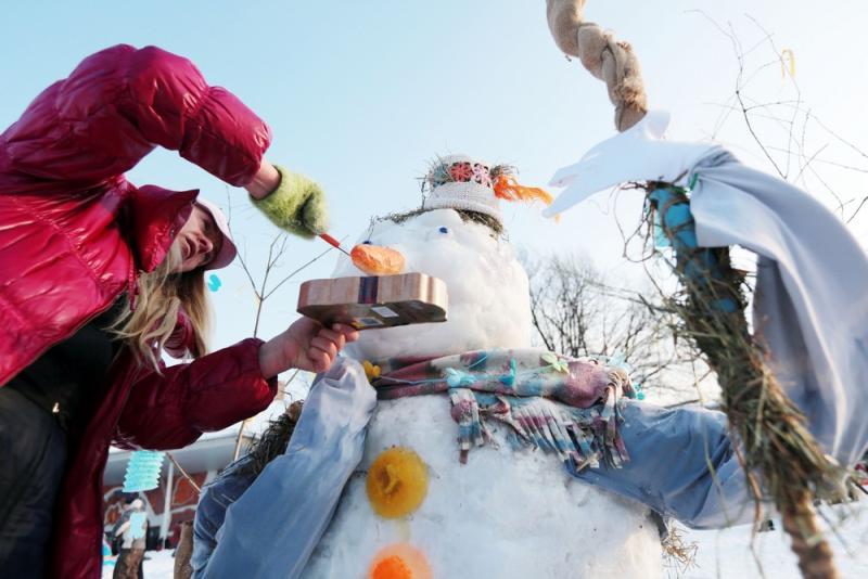 Снеговика-почтовика слепят в «Авангарде»