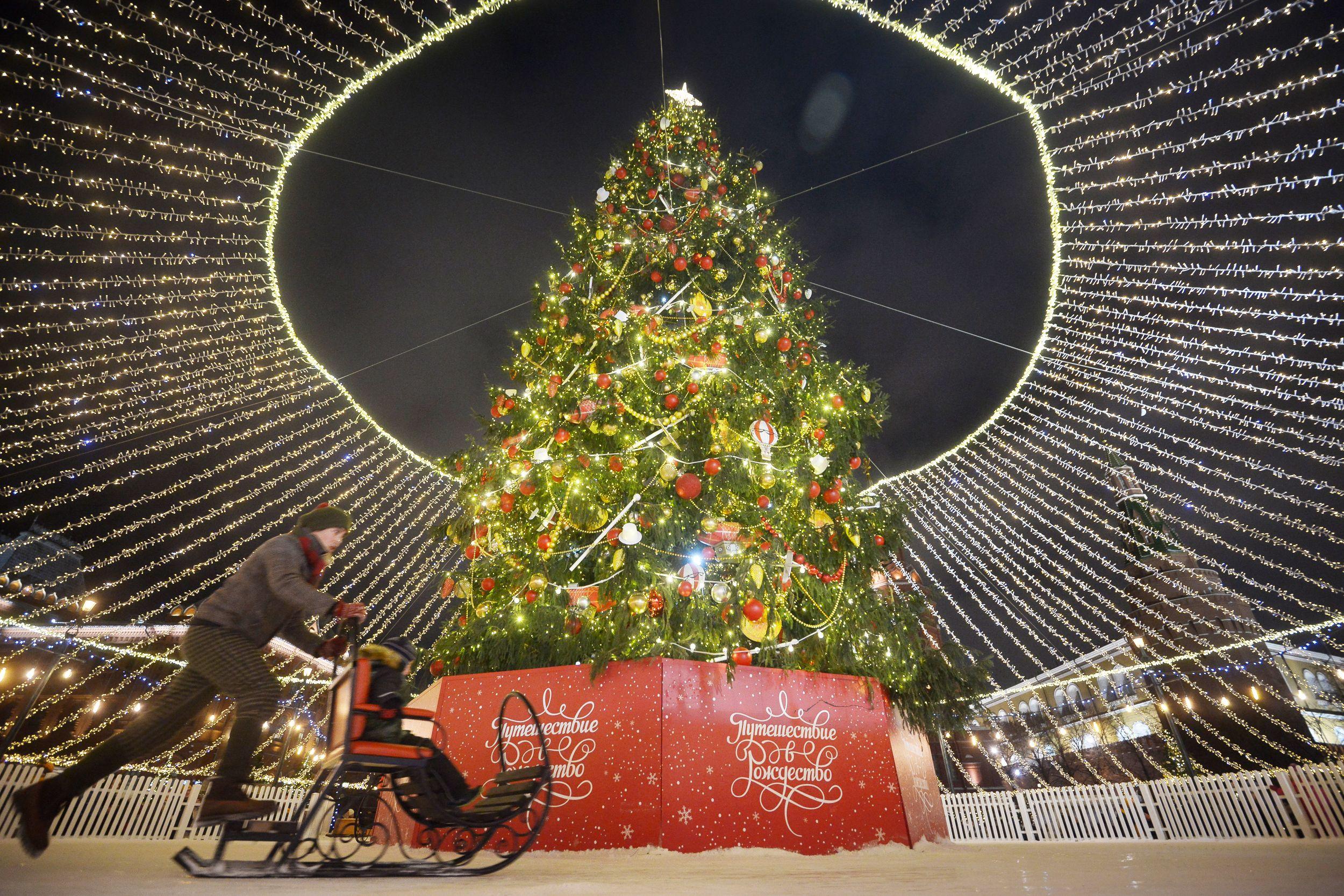 Демонтаж новогодних елок объявили в Москве