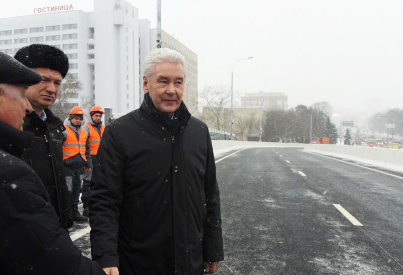 Собянин открыл новую разворотную эстакаду на Волоколамском шоссе
