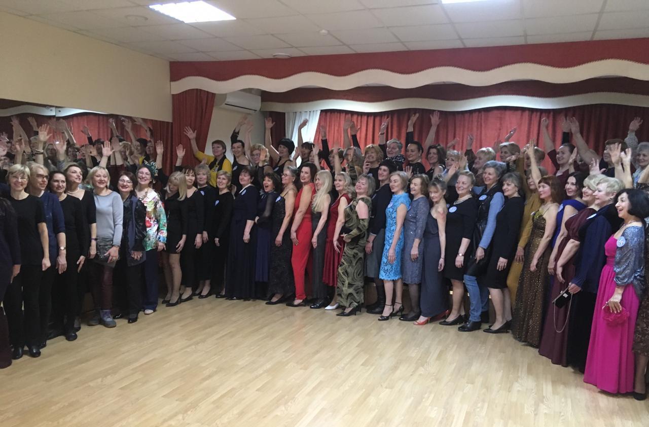 Участницы «Московского долголетия» прошли кастинг в школу «Королевская осанка»