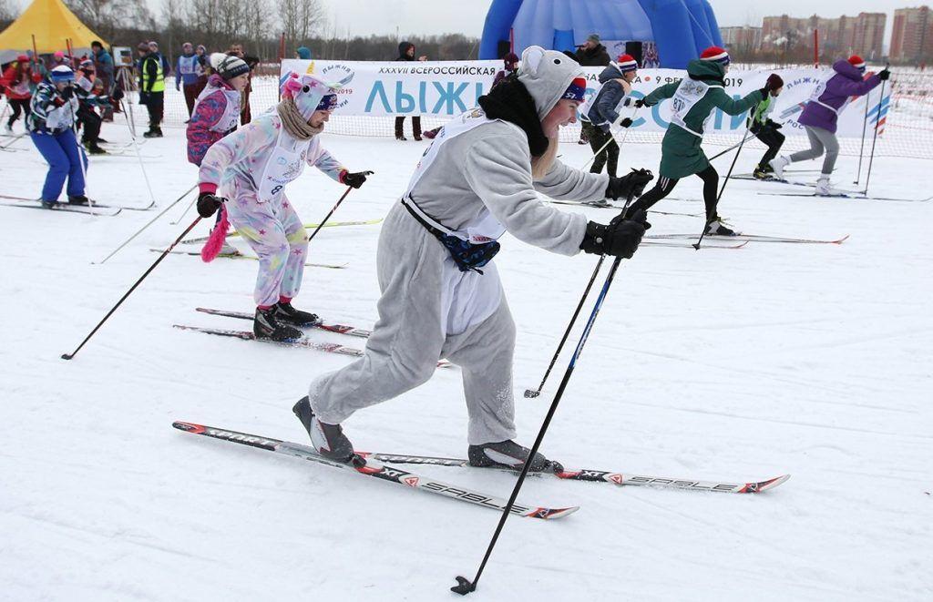 Около 500 спортсменов юга поучаствовали в московском этапе «Лыжни России». Фото: сайт мэра Москвы