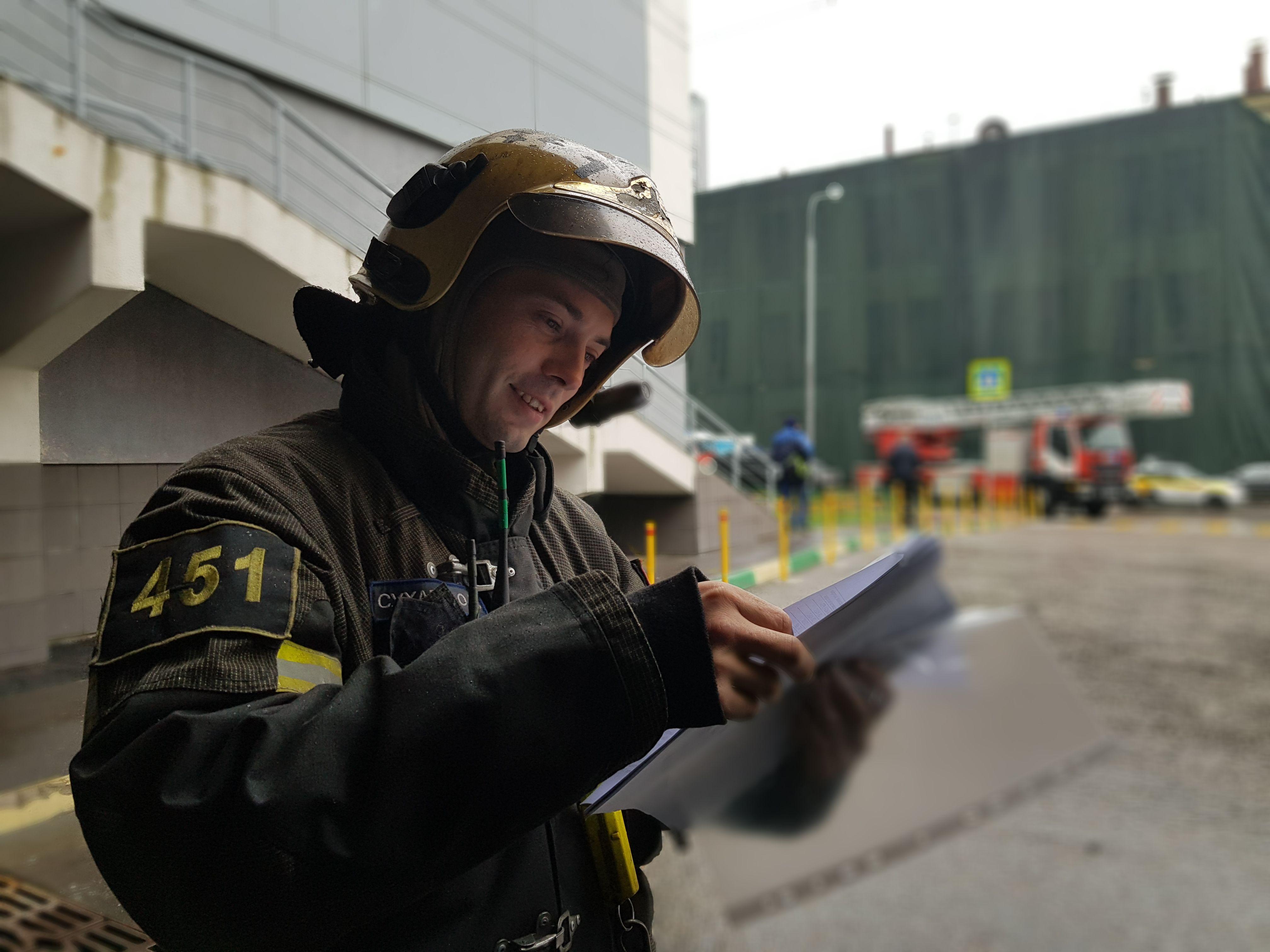 Спасатели провели пожарно-тактические учения по тушению пожара