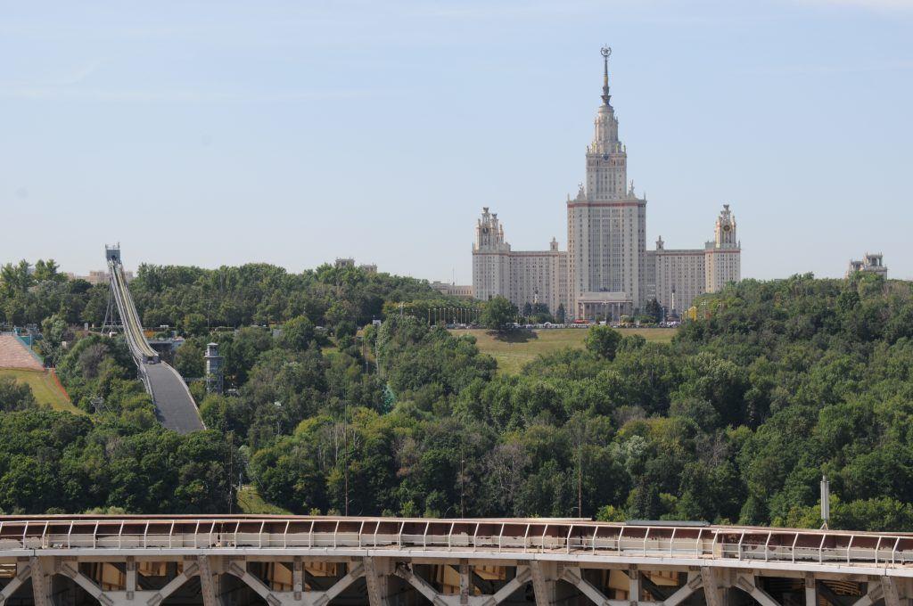 Смотровая площадка открылась на крыше «Лужников»