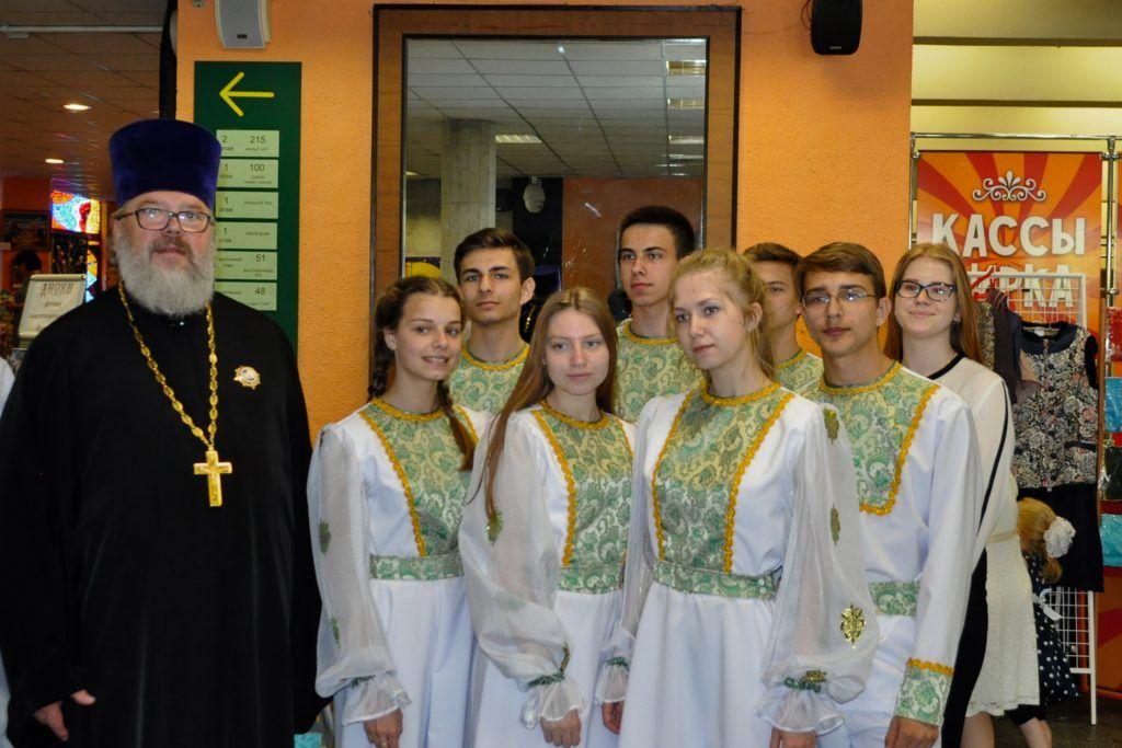 Протоиерей Константин Сопельников с творческим коллективом из Калужской области