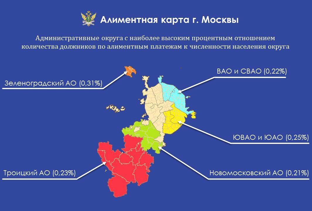 Алиментная карта Москвы