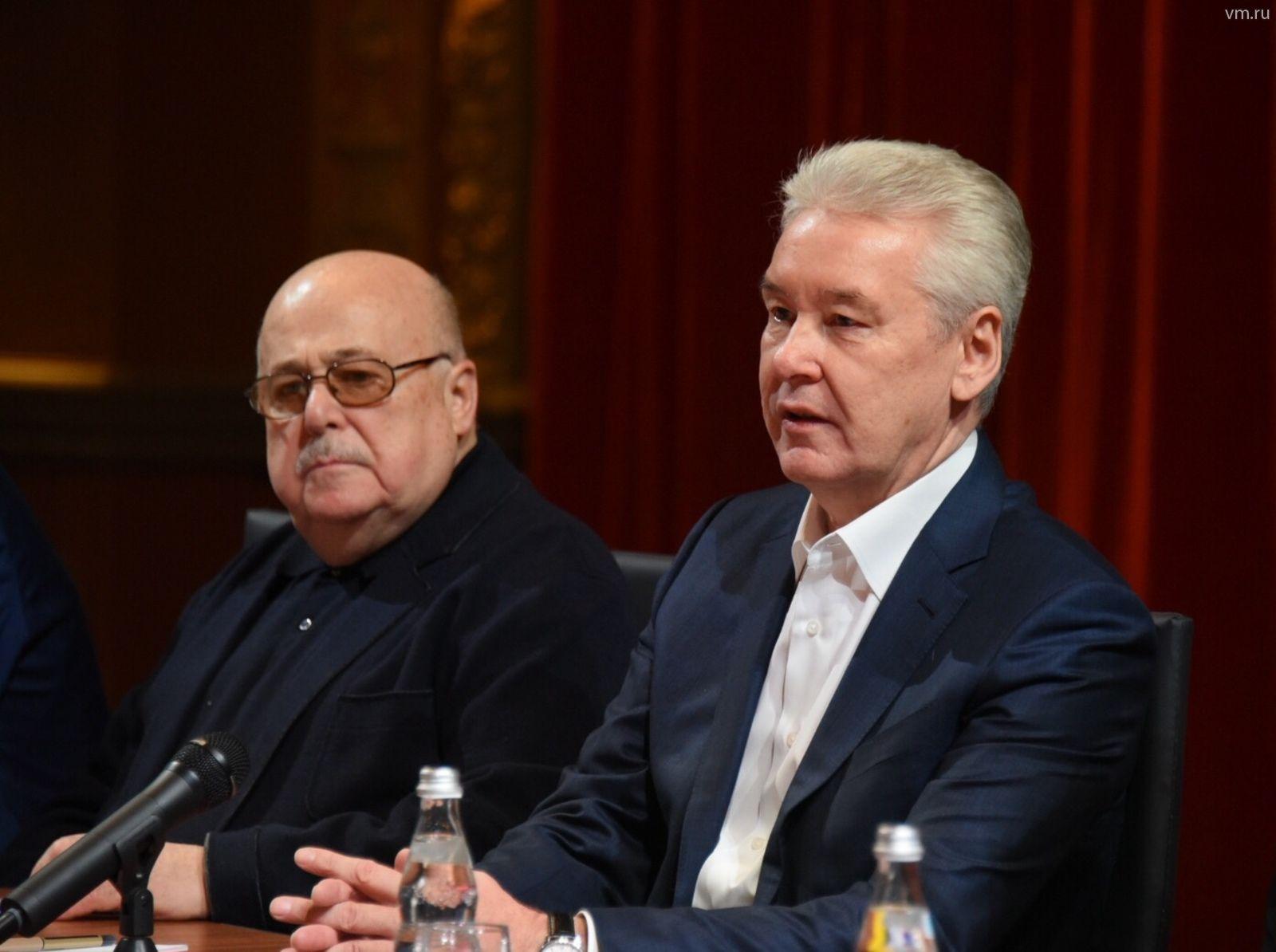 Сергей Собянин поздравил Александра Калягина с 77-летием