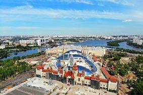 Самый большой в России стеклянный купол возвели в «Острове мечты». Фото: сайт Комплекса градостроительной политики и строительства Москвы