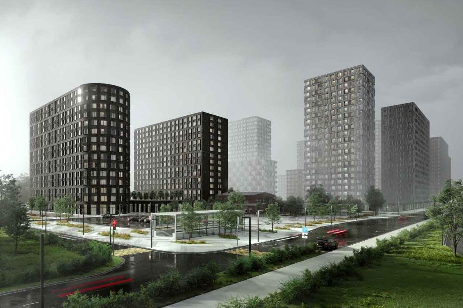 На юго-востоке Москвы построят жилой комплекс с озелененной крышей и мостами
