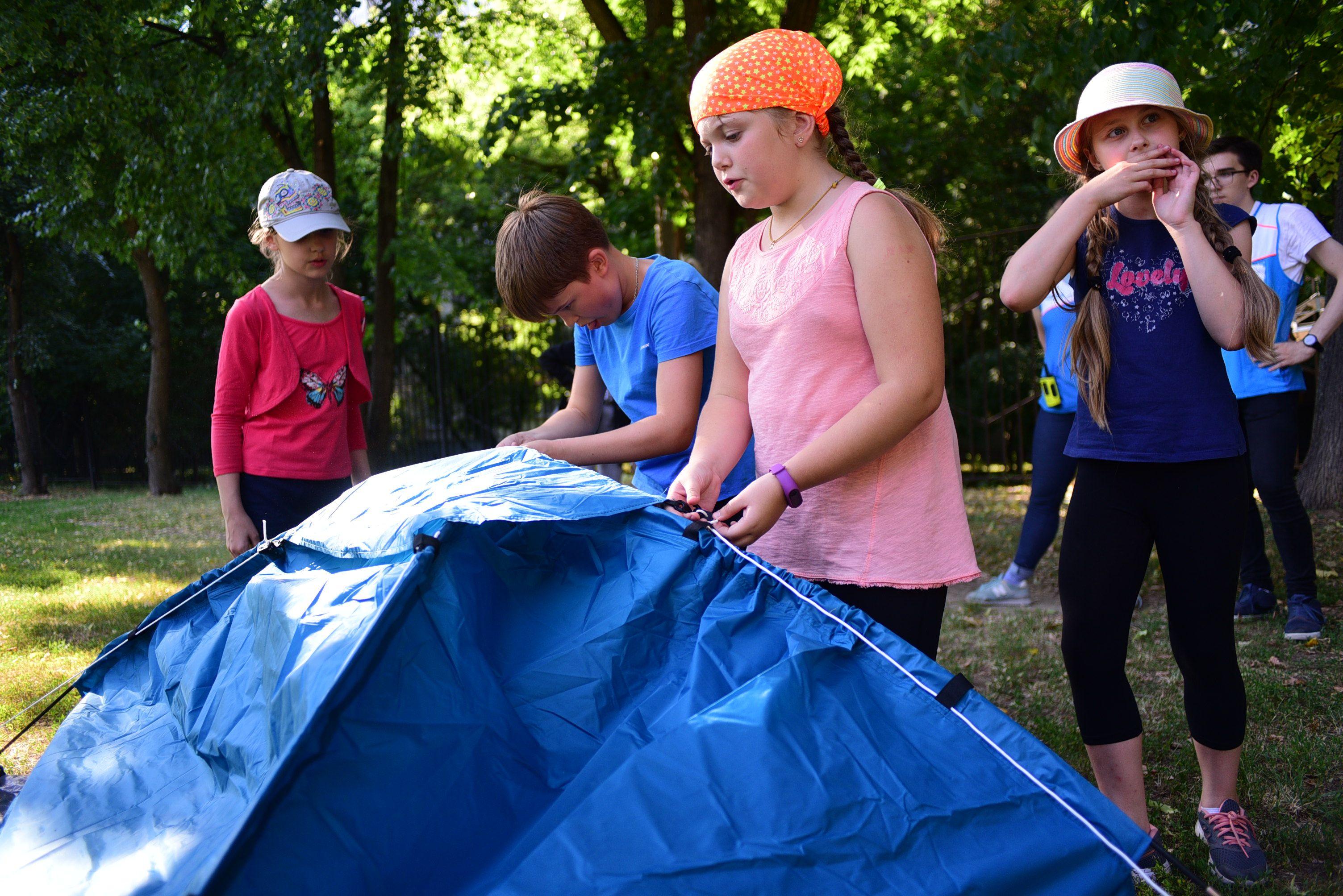 Собрать палатку за пять минут