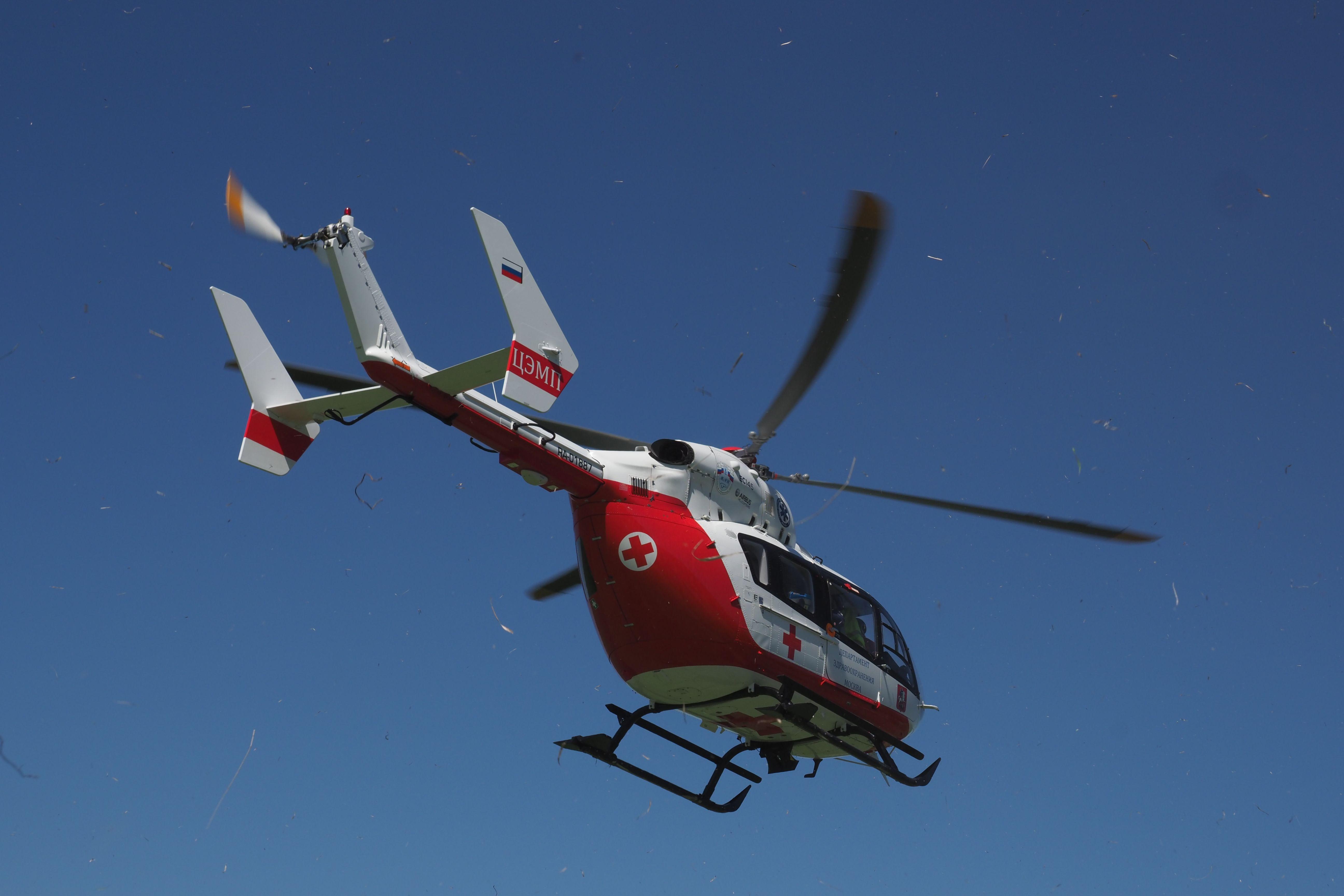Ожидание медицинского вертолета в Москве не превышает десяти минут