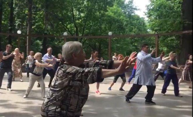 Тренировка по практике цигун прошла в Царицыне