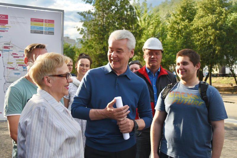Собянин рассказал о благоустройстве города по программе «Мой район»