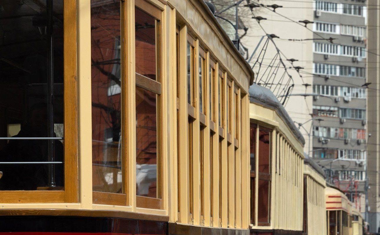 Колонна старинных трамваев проедет по Шаболовке