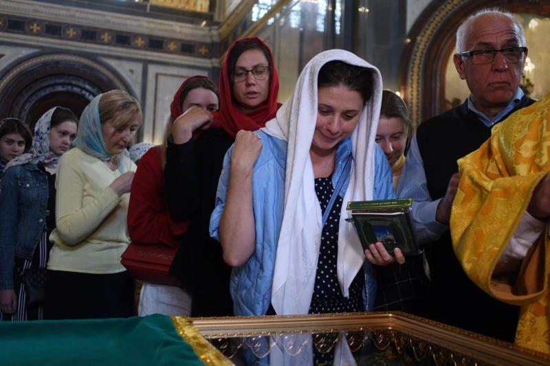 Для паломников к мощам святых Петра и Февронии в Москве открылась «горячая линия» . Фото: Пелагия Замятина, «Вечерняя Москва»