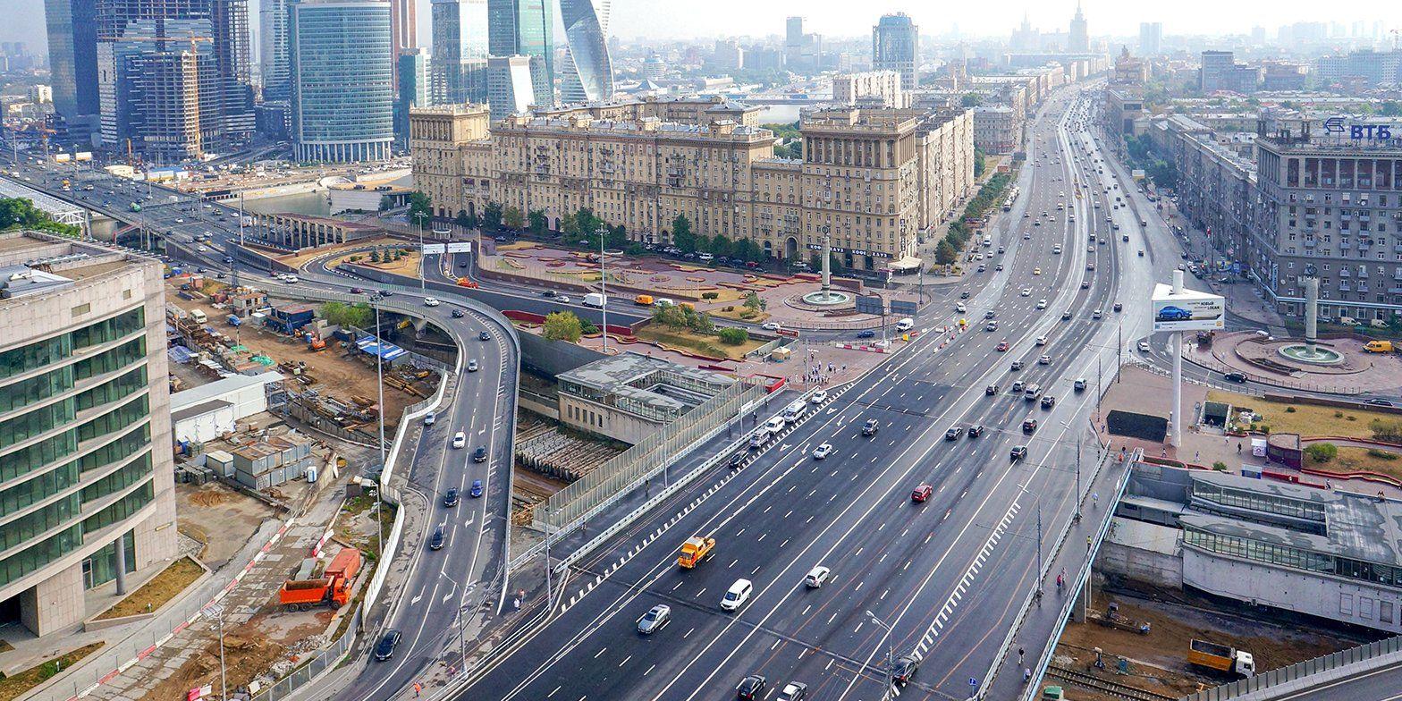 Власти Москвы откроют первый участок дублера Кутузовского проспекта до октября