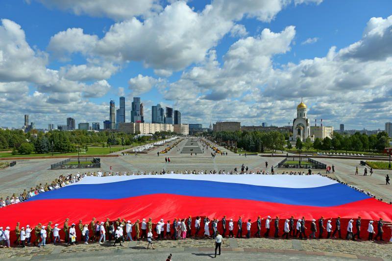 В Москве около 500 тыс человек отпраздновали День флага России. Фото: архив, «Вечерняя Москва»