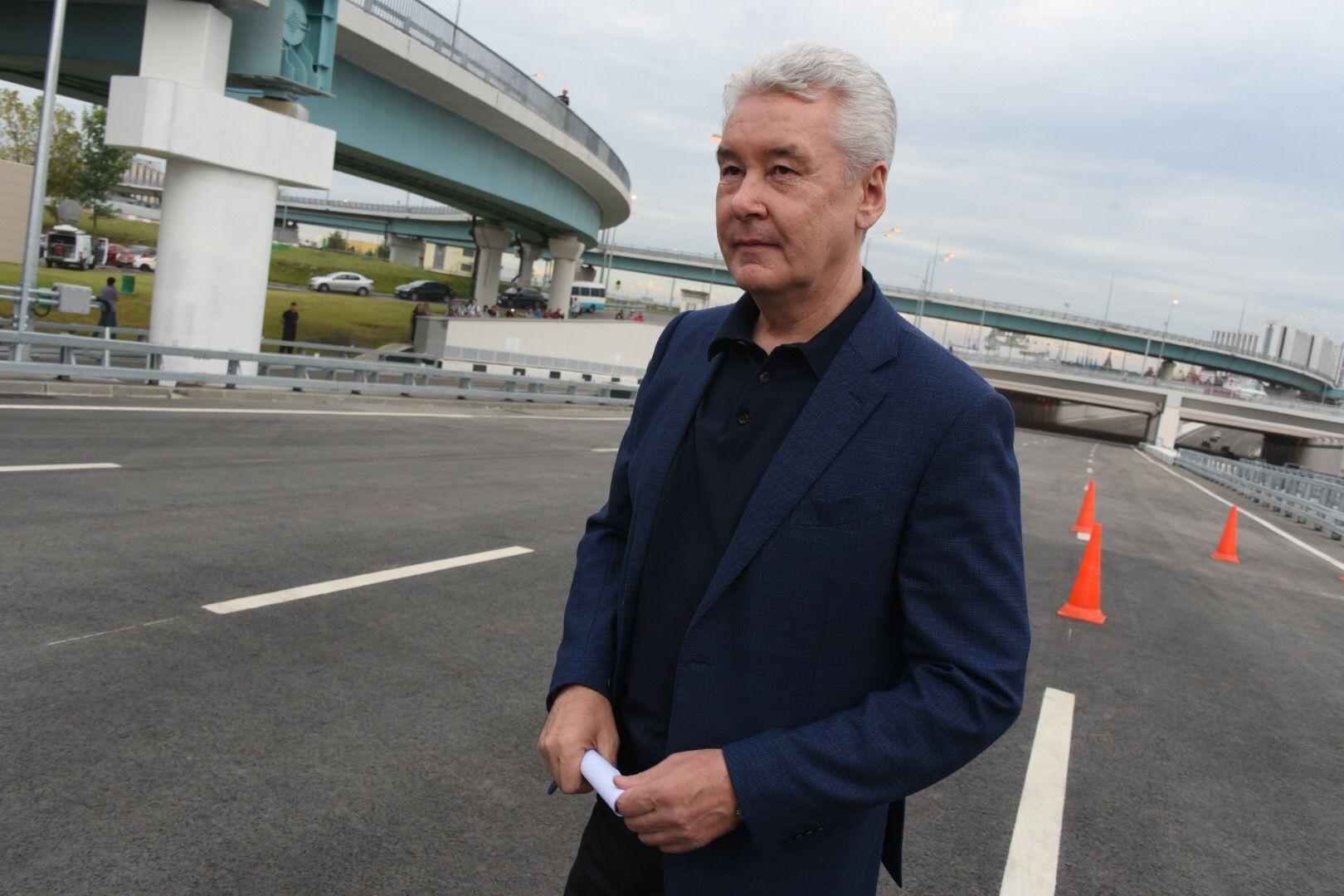Сергей Собянин открыл развязку МКАД с Бесединским шоссе на юге Москвы