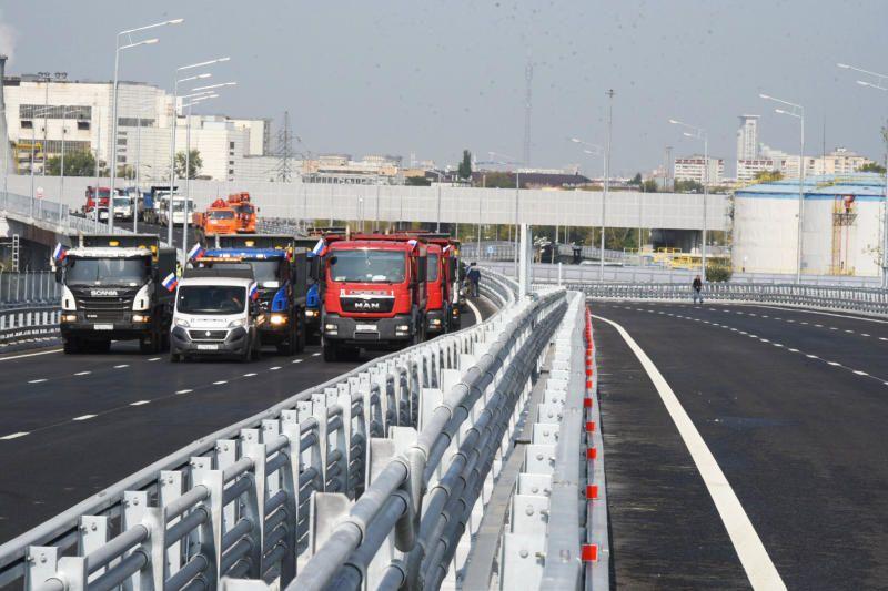 С 2011 года на МКАД построено и реконструировано 15 транспортных развязок. Фото: Владимир Новиков, «Вечерняя Москва»
