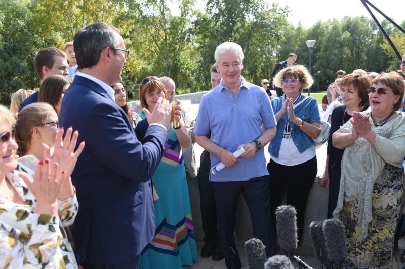 Сергей Собянин посетил праздничные гуляния ко Дню города