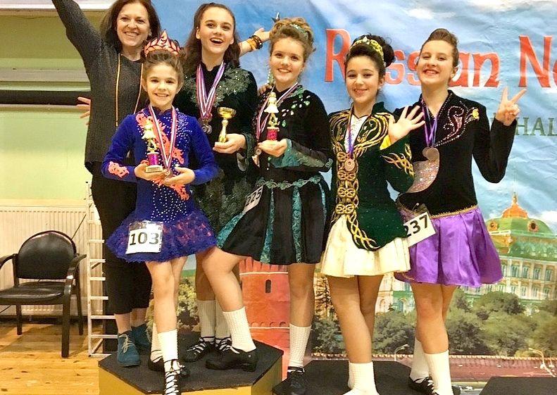 Воспитанницы студии ирландского танца при «Маяке» заняли призовые места на российском чемпионате