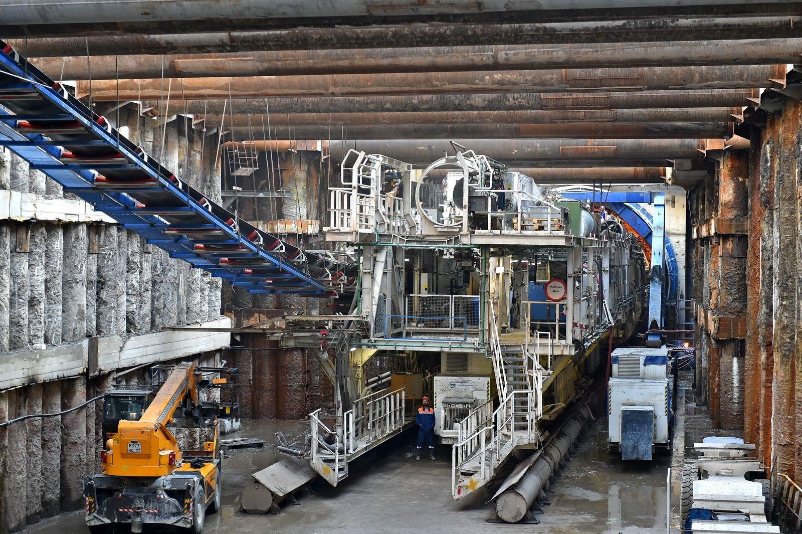 Тоннелепроходческий комплекс из Китая привезут для строительства станций БКЛ «Нагатинский Затон» и «Кленовый бульвар»