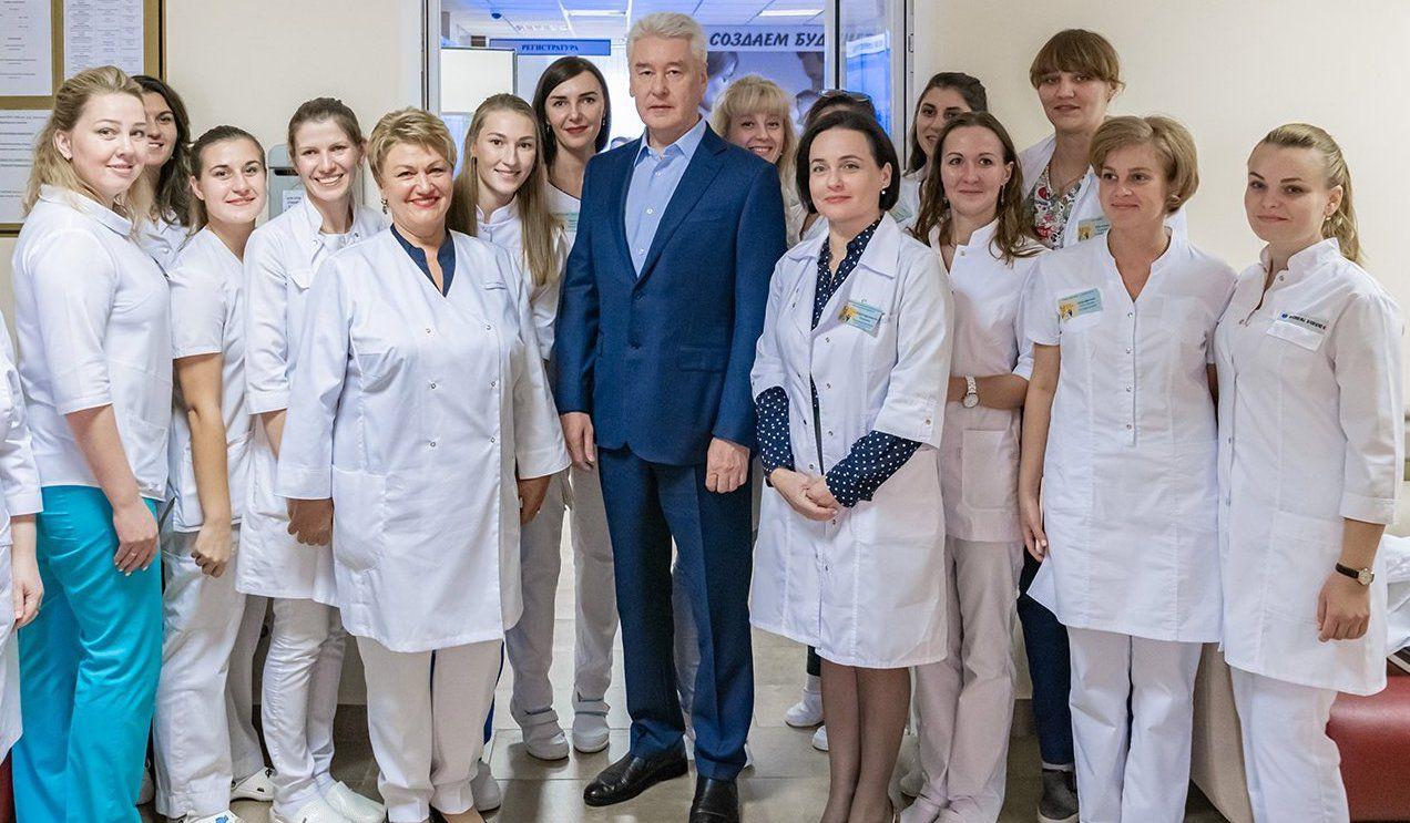 Собянин открыл Центр здоровья семьи при ГКБ им. Плетнева