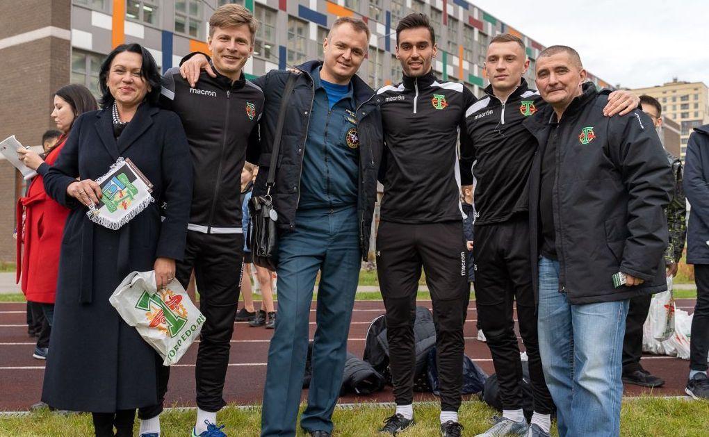 Футболисты клуба «Торпедо» посетили гимназию в Мытищах
