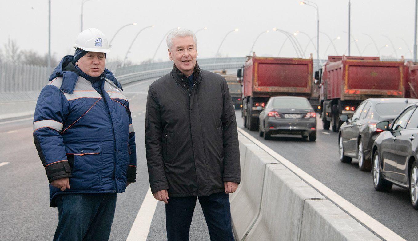 Собянин открыл уникальный мост в Мневниковской пойме